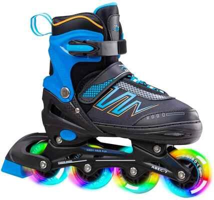 #7. Hiboy Adjustable Outdoor & Indoor Inline Skates w/All Light up Wheels