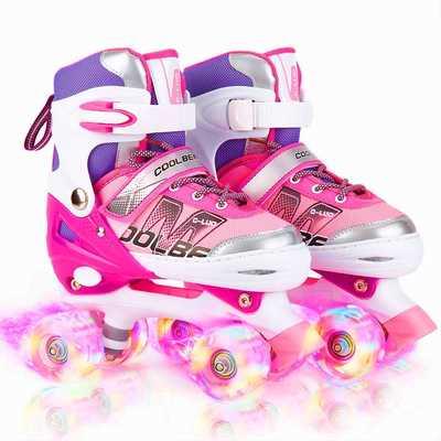 #7. Otw-Cool All-8-Wheels Adjustable Safe & Fun Illuminating Roller Skates for Girls & Women