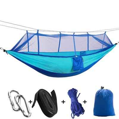 5. KEPEAK Lightweight Double & Single Nylon Camping Hammock with Mosquito Net & Bug Net