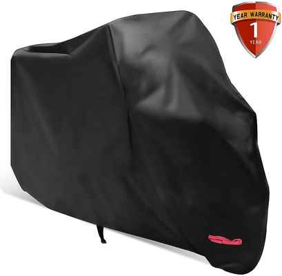 #10. WDLHQC 116'' All Weather Outdoor Oxford Durable Waterproof Motorcycle Cover