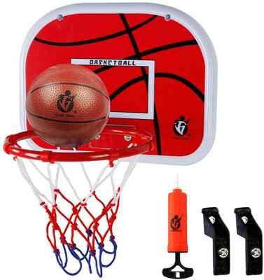 #9. Dreamon Wall-Mounted Kids Basketball Hoop & Backboard Set w/Net Ball & Pump Sport Toy