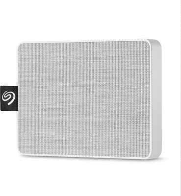 #7 Seagate White One-Touch STJE1000402 Portable External SSD For PC Laptop & Mac