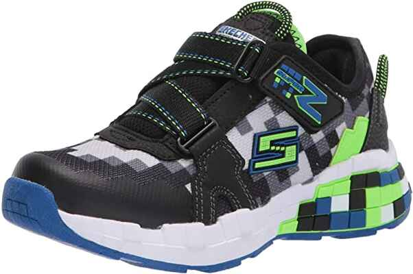 #7. Sketchers Super-Z Synthetic Sole Memory Foam Kids Mega-Craft Cubotrons Sneaker