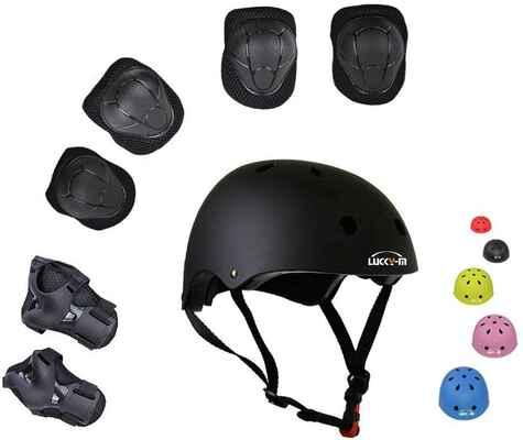 #6. UniqueFit Lucky-M Wrist Guards, Helmet, Elbow & Knee Pads Outdoor Kid's Protective Gear Set