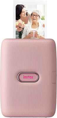 #4. Fujifilm Instax Dusky Pink Glossy Photo Paper Bluetooth-enabled Mini Portable Printer