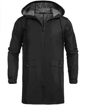 #7 COOFANDY Waterproof Lightweight Packable Windproof Active Men's Hooded Rain Jacket
