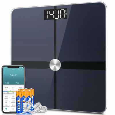 #7. 1BYONE Digital Body Tape Measure ZOERTOUCH 400 Pounds Weight Body Bathroom Scale