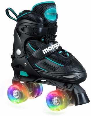 #4. Mangoose Adjustable with Fun Light Up Wheels for Beginner Girls & Boys Inline Roller Skates
