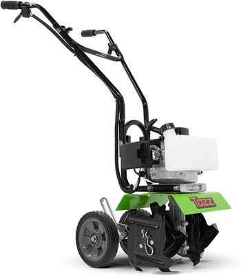 #6. TAZZ 33CC 35351 Easy to Control Powerful Viper Mini Cultivator Tiller (Green)