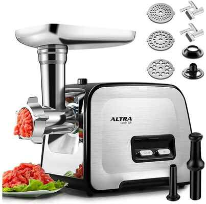 #4. ALTRA 2 Blades 2000W Max Stainless Steel Sausage Stuffer & Electric Meat Grinder