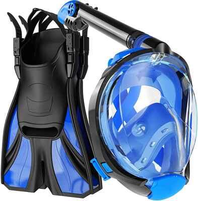 #9. COZIA Safe Breathing Unit Anti-Leak Anti-Fog Full Face Mask for Longer Diving