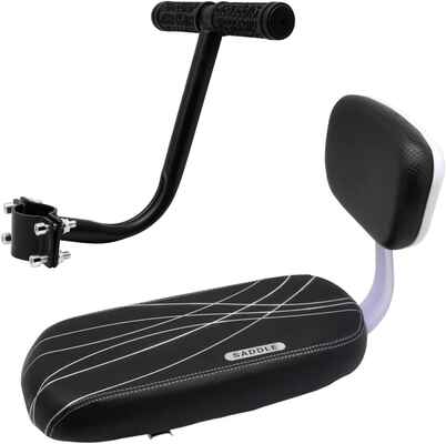 #10. Together-Life Bicycle Rear Seat Cushion Child Bike Seat w/Backrest & Armrest Handrail