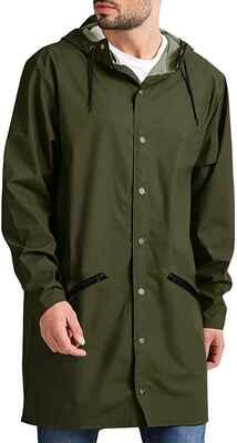 #9. JINIDU Packable Lightweight Waterproof Hooded Long Men's Raincoat for Outdoor