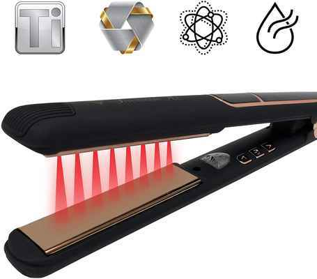 #1. Irresistible Me Black Diamond Titanium Infrared Professional Flat Iron Straightener
