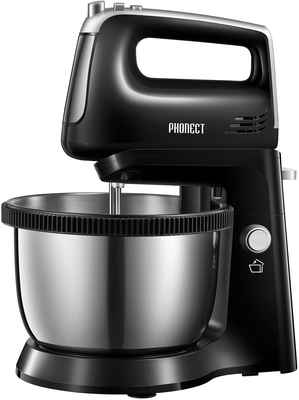 #10. PHONECT 2-in-1 250W Turbo Electric 3.7 Quarts 5-Speed Stand Mixer w/Rotating Bowl