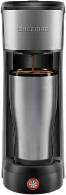 #10. Chefman 14 Oz Stainless Steel K-Cup Pods Grounds & Loose-Leaf Tea Single Serve Coffee Maker