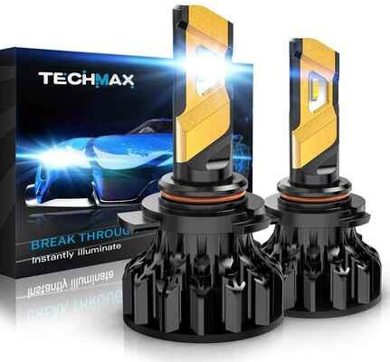 #4. TECHMAX Super Lighting Kit of 2 White 9012 6500K Xenon 12000 Lumen HIR2 LED Headlight Bulb