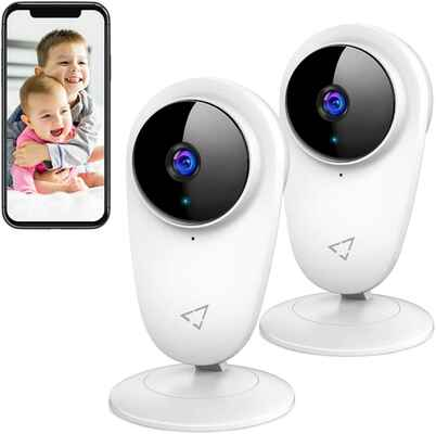 #6. VICTURE 2-Way Audio 1080P Wi-Fi Video Baby Monitor Indoor Home Security Camera