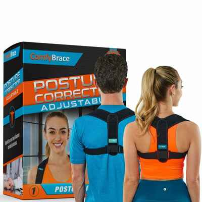 #1. Comfy Brace Relief-Breathable Fully-Adjustable Posture Corrector for Men & Women