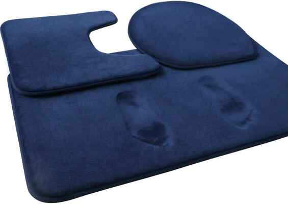 #5. FEELSO Non-Slip Rug 2-Piece 20'' x 31'' Extra-Soft Memory Foam Bath Mat