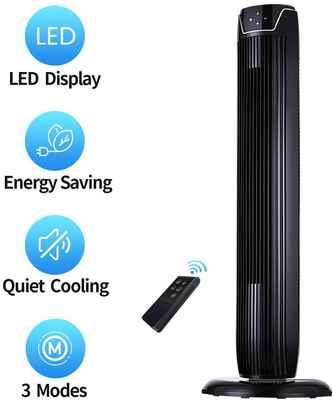 #6. Aikoper 36'' Quiet Cooling Fan Timer & Remote Built-in 3 Modes Tower Fan for Home Office