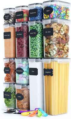 #2. Chef's Path 14 Pcs Kitchen & Pantry Organization BPA-Free Airtight Food Storage Container Set