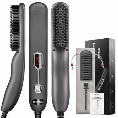 #7. SIYINMM Professional Groomer Electric Hair Beard Straightening Brush/Comb for Travel/Home