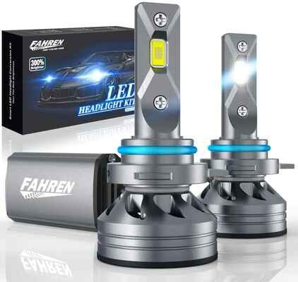 #1. Fahren IP68 Waterproof 60W 10000 Lumens 9012/HIR2 Super Bright LED Headlight Bulb
