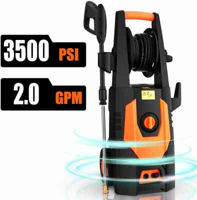 #4. CHAKOR 3500 PSI 2.0 GPM 1800W 4 Adjustable Nozzle Electric Pressure Washer (Brush-Orange)