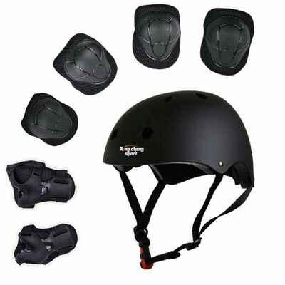 #7. XingCheng-Sport Wrist Guard Helmet Knee & Elbow Pads Protective Gear Set for Outdoor Sports