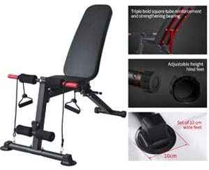 #3. K KiNGKANG Bench Utility Foldable Incline Decline Adjustable Weight Benches for Full Body Workout