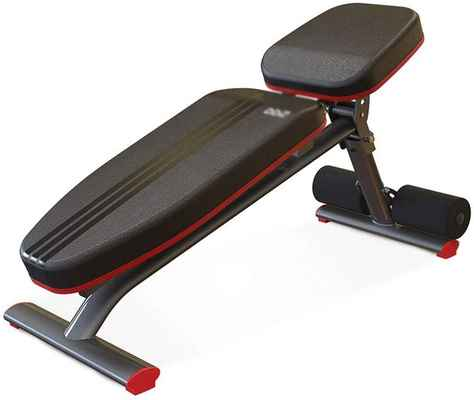 #10. CHENNAO Full Body Foldable Flat Bench Supine Board Red Utility Weight Bench for Home Gym
