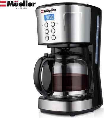 #9. Mueller 12 Cup Machine Multiple Brew Strength Keep Warm Ultra Coffee Maker Programmable