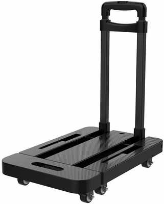 #4. Black Bull 2020 Multifunctional 440lbs Capacity 6 Wheels 360 Rotation Folding Hand Truck Dolly