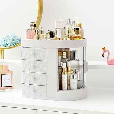 #5. DLY Modern Jewelry & Skin Care Vanity & Countertop Makeup Organizer Cosmetic Organizer