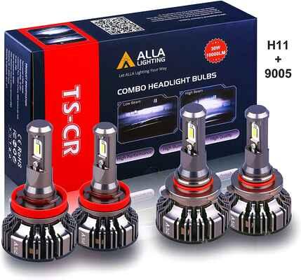 #6. Alla Lighting 6000K Xenon H11 & 9005 Combo HB3 Super Bright Xtreme White LED Headlight Bulb