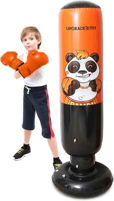 #5. UpgradeWith Height 62'' Indoor & Outdoor Inflatable Punching Bag for Kids & Adults