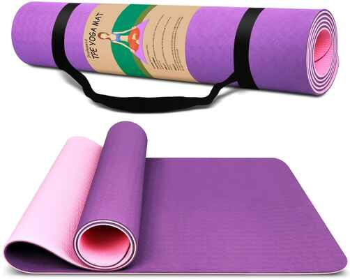 #6. Dralegend ¼'' Sweat-Proof Non-Slip High-Density Classic Exercises & Pilates Fitness Yoga Mat