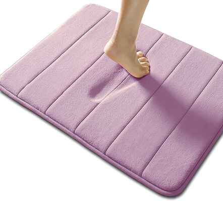 #7. Non-Brand Non-Slip Rapid Water Absorption Memory Foam Bath Mat (Lavender)