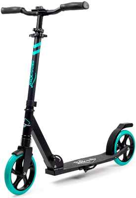 #4. Lascoota 7.9'' Big Wheels Dual Suspension System Scooters for Kids 8 Years & Up w/Shoulder Strap