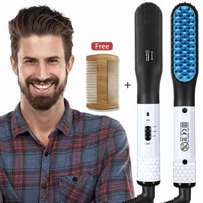 #9. Gabbay Electric Ceramic Ionic Beard Straightener Comb for Men's Hair Styling