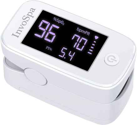 #4. InvoSpa Saturation Oxygen Monitor Fingertip Pulse Oximeter for Heart Rate Monitoring