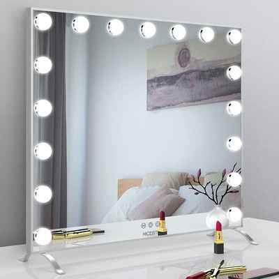 #3. NICESTi Smart Touch Control Lighted Makeup Mirror w/17 Dimmable LED Bulbs