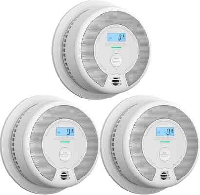 #1. X-sense Pack of Three UL 217 & UL 2034 Certified Carbon Monoxide Alarm Detector