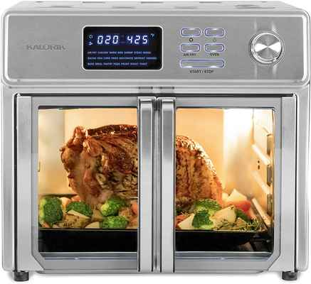 #3. Kalorik 26Qt All-in-One Appliance Stainless Steel Digital Maxx Air Fryer Oven w/Cookbook