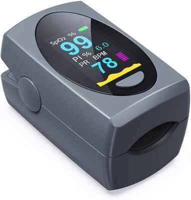 #3. FACEIL OLED Portable Digital Blood Pulse Oximeter Fingertip (Batteries Included)