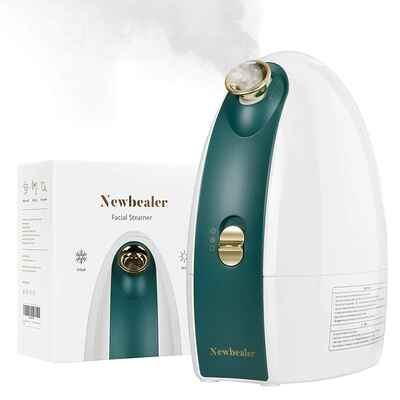 #3. Newbealer Nano Ionic 3-in-1 Facial Steamer w/Cold & Hot Mist Moisturizing Cleaning Pores for Home Face Spa