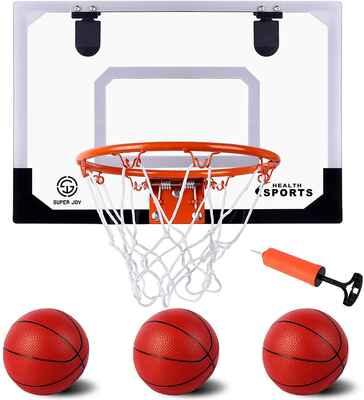 #7. AOKESI Pro Indoor Basketball Hoop for Door & Wall w/Complete Accessories for Boys
