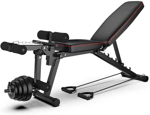 #8. WL Professional Foldable Adjustable Multi-Functional Bench Press for Full Body Workout Equipment