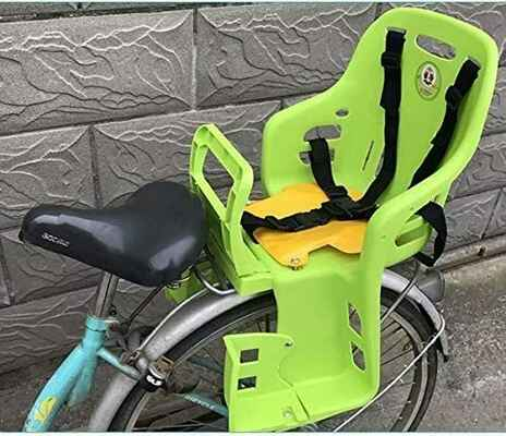 #6. GYR Adjustable Child Bike Carrier Seat for Bicycle MTB Road Kids Bike Seat (Blue & Green)